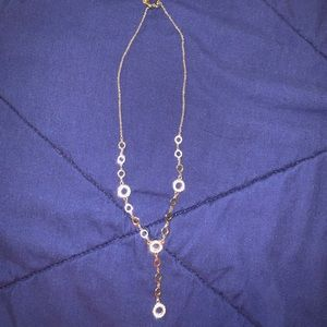 Silver & rhinestone necklace